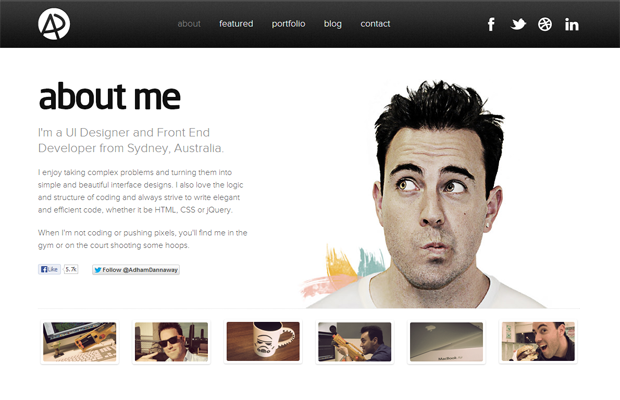 25 Best Examples Of About Me Pages Ux Designer Advertising Design