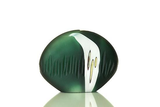 Carved Green Stone: David Royce: Art Glass Paperweight - Artful Home