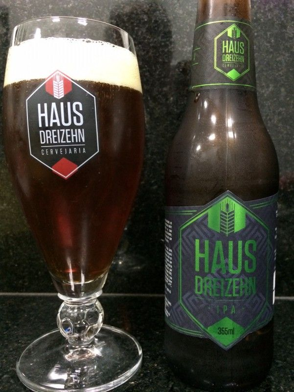 Cerveja Haus Dreizehn, estilo India Pale Ale (IPA), produzida por Haus Dreizehn, Brasil. 7.5% ABV de álcool.