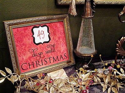 free printable christmas countdown gift idea frugal cheap frame art print decor decoration