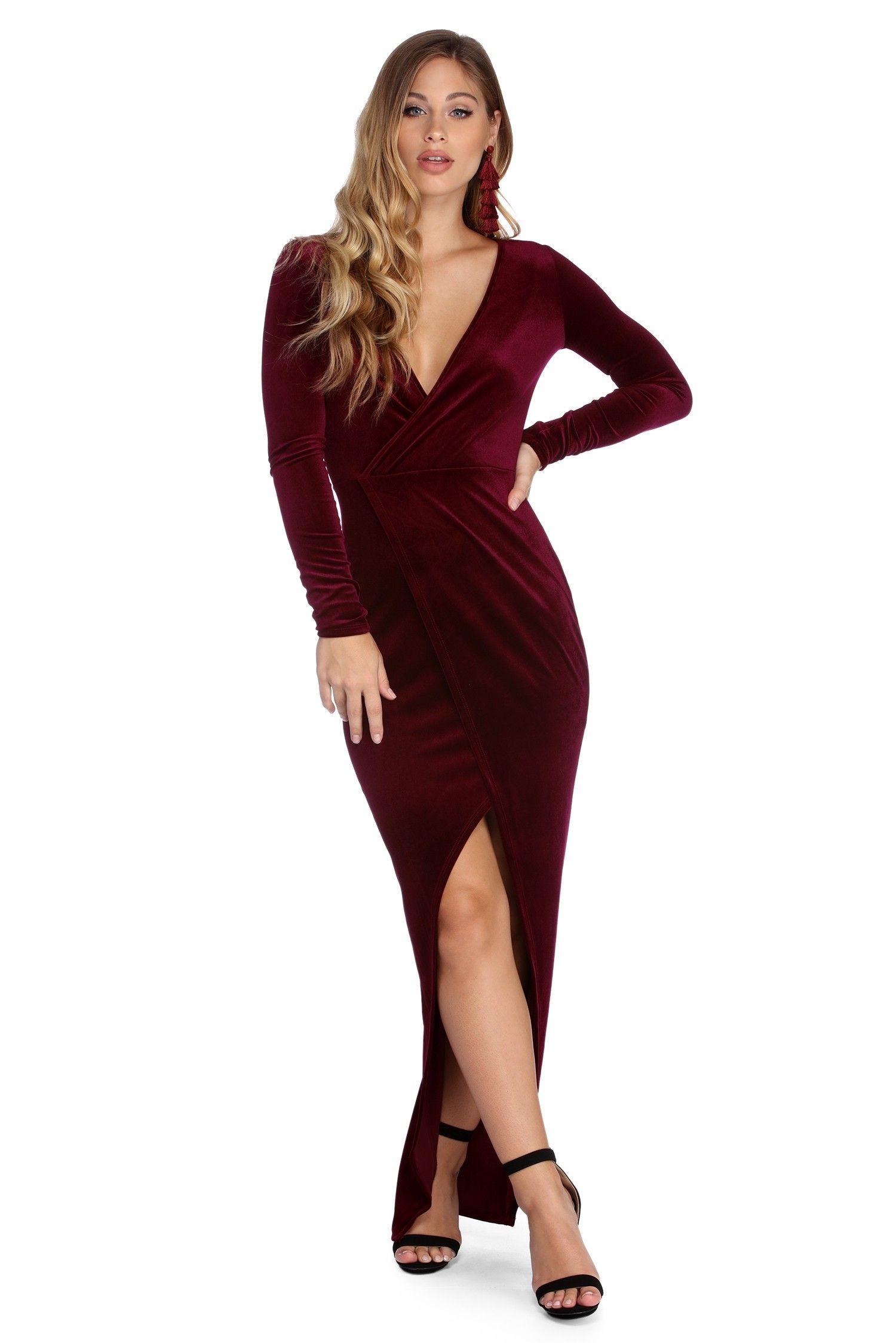 Its A Wrap Velvet Dress Velvet Evening Dress Velvet Dress Plus Size Burgundy Velvet Dress [ 2247 x 1500 Pixel ]