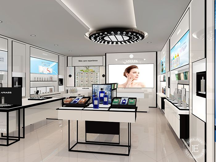Interior Design For Cosmetic Reyail Store With Display