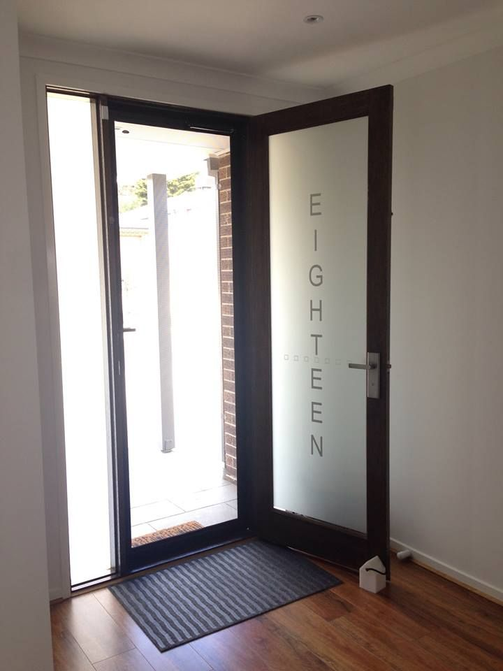 Frosted front door by Frost & Co Window Film | Front Door Privacy ...