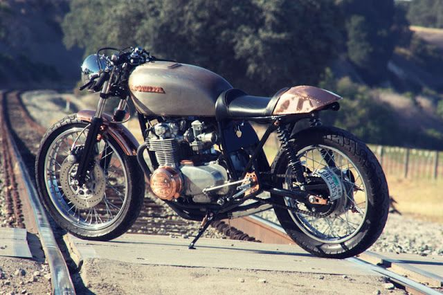 Honda CB550 Copper Cafe ~ Return of the Cafe Racers