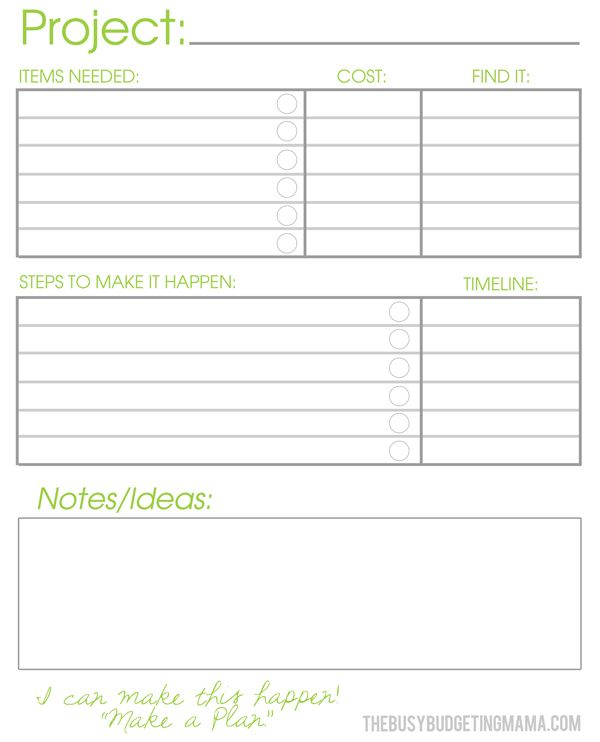 Home project templates free