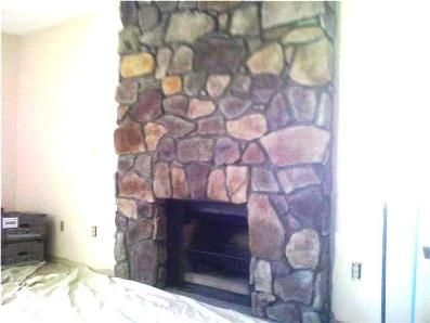 Painting Faux Stone Look | How to Paint a Concrete Hearth to Look ...