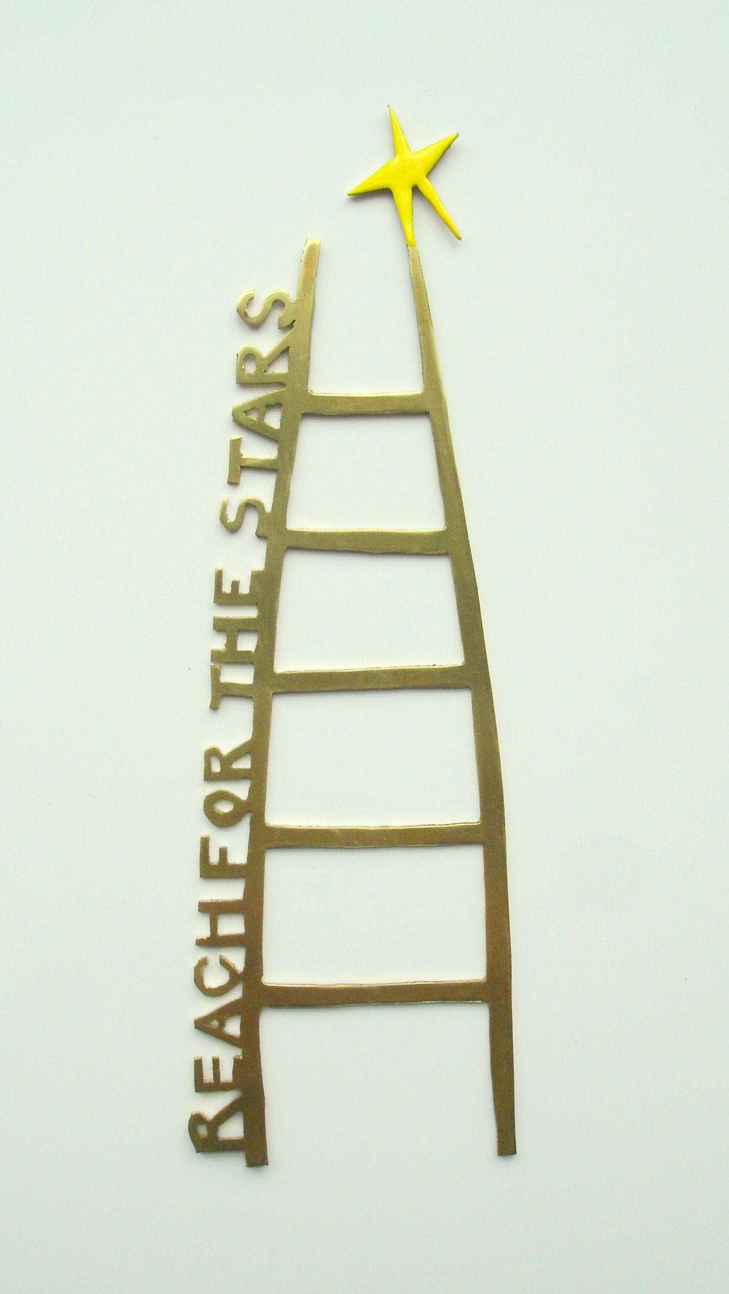 Brass ladder with yellow star by josephine gomersall designs end
