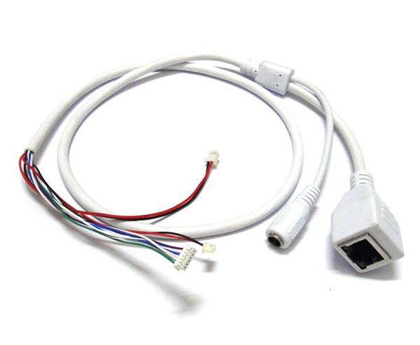 Cctv Ip Network Camera Pcb Module Video Power Cable Rj45 Female Dc Male Connectors With Terminlas Power Cable Rj45 Camera