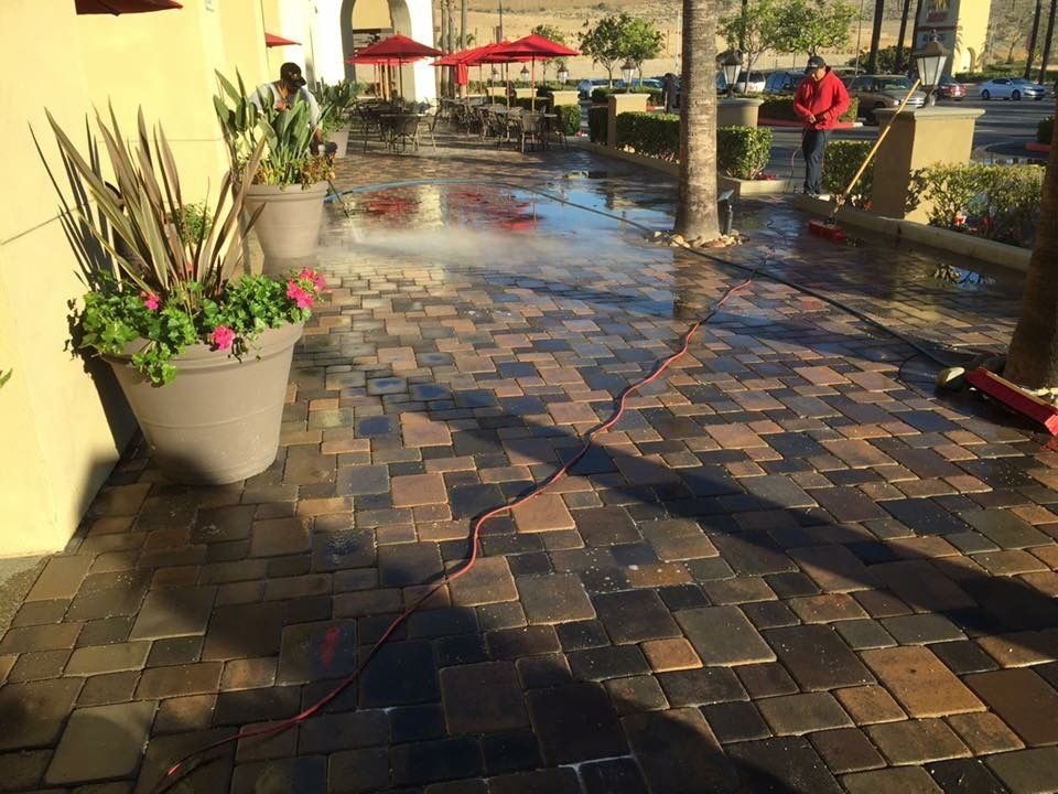 UTC mall in SAN Diego California Pavers walkway restoration