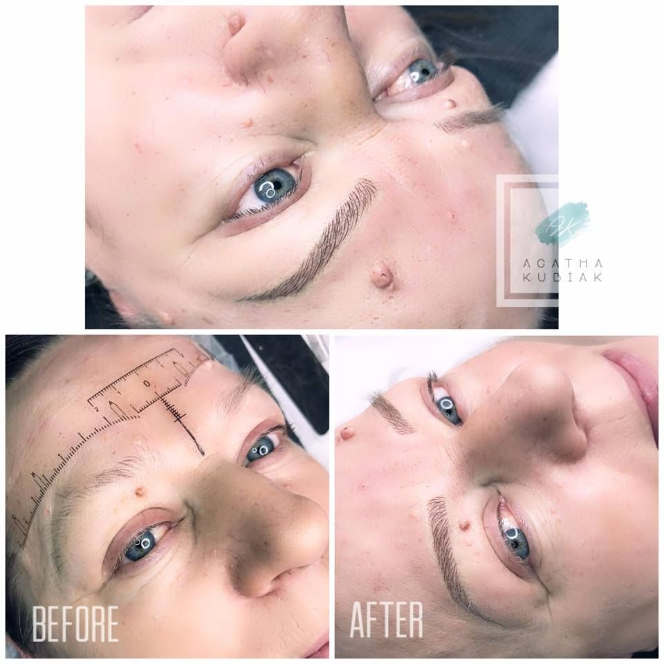 Microblading 3D eyebrows. Before and after. | Nose ring ...