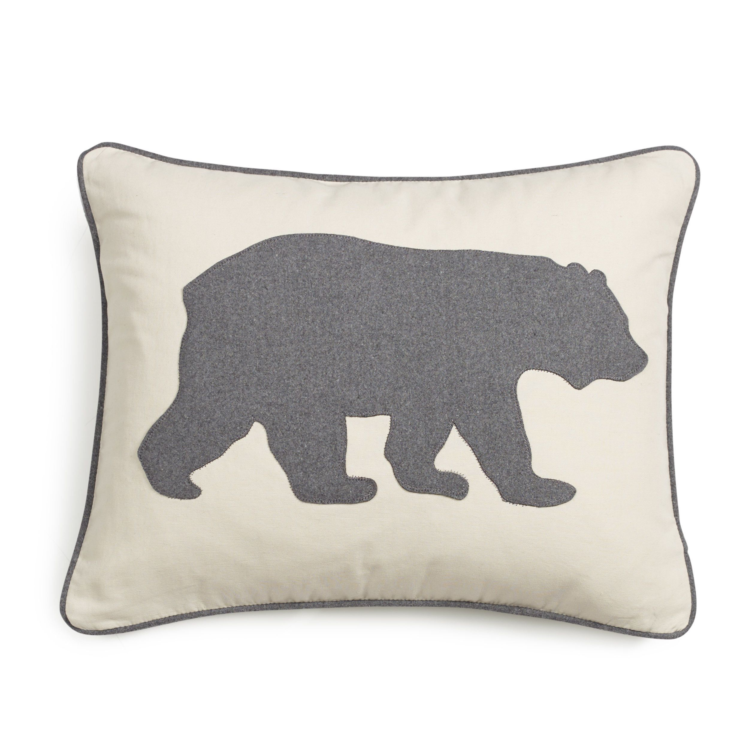 Eddie Bauer Bear Felt 19 Colors Decorative Pillows (Black Bear ...