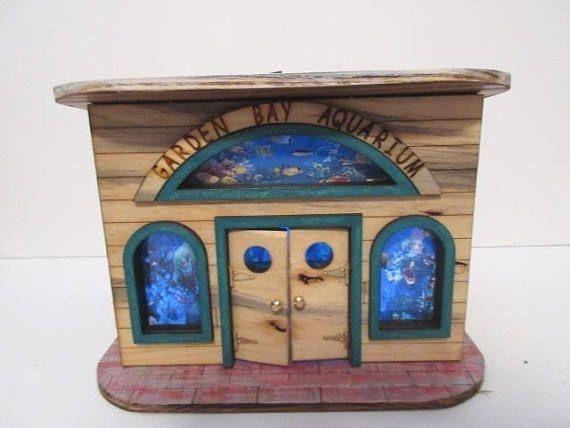 Fairy Garden Miniature Garden Bay Aquarium OOAK handmade Beach Hut Cottage Cabana house door