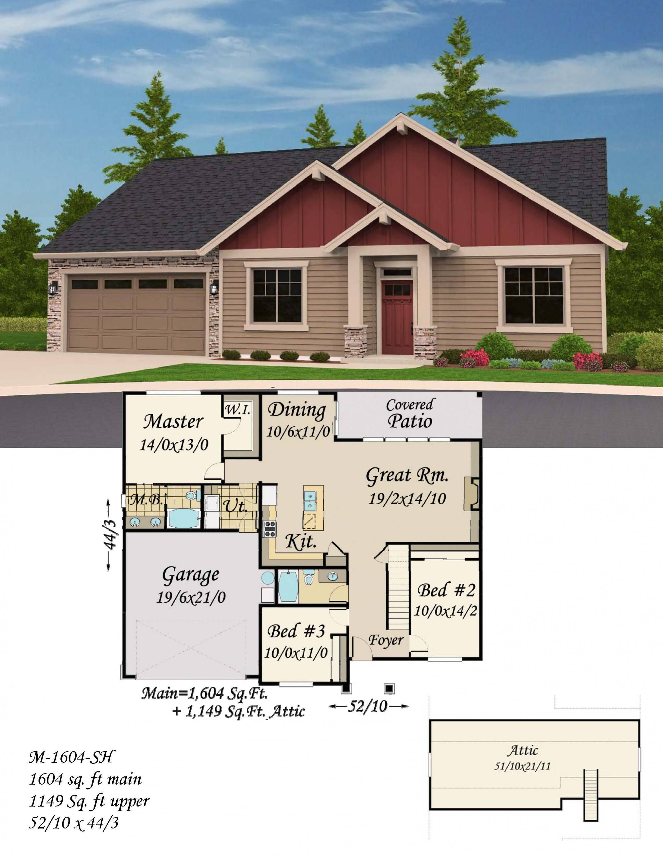 Craftsman House Plan With Huge Bonus Room Perfect For Hobbies Kids House Plans Mansion Cottage House Plans Barn Style House Plans