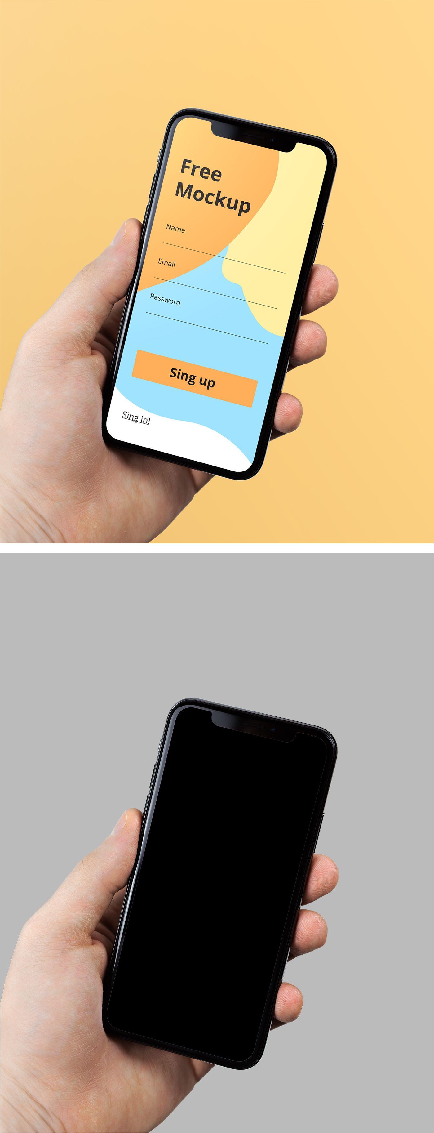 Download Iphone X In Hand Mockup Mr Mockup Graphic Design Freebies Graphic Design Freebies Design Freebie Iphone Mockup Free