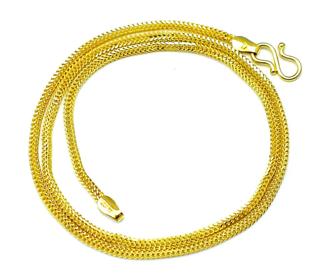 chain gold necklace yellow itm o ebay rope solid image loading real chains is you pick