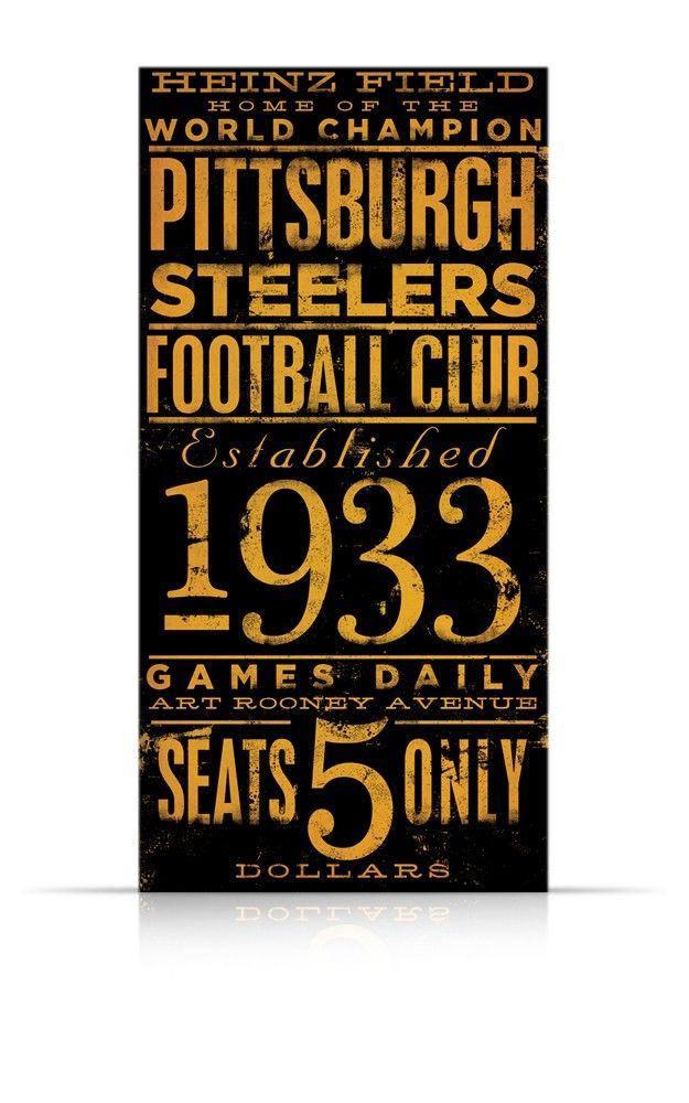 Pittsburgh Steelers Football Club Typography By Geministudio Signs