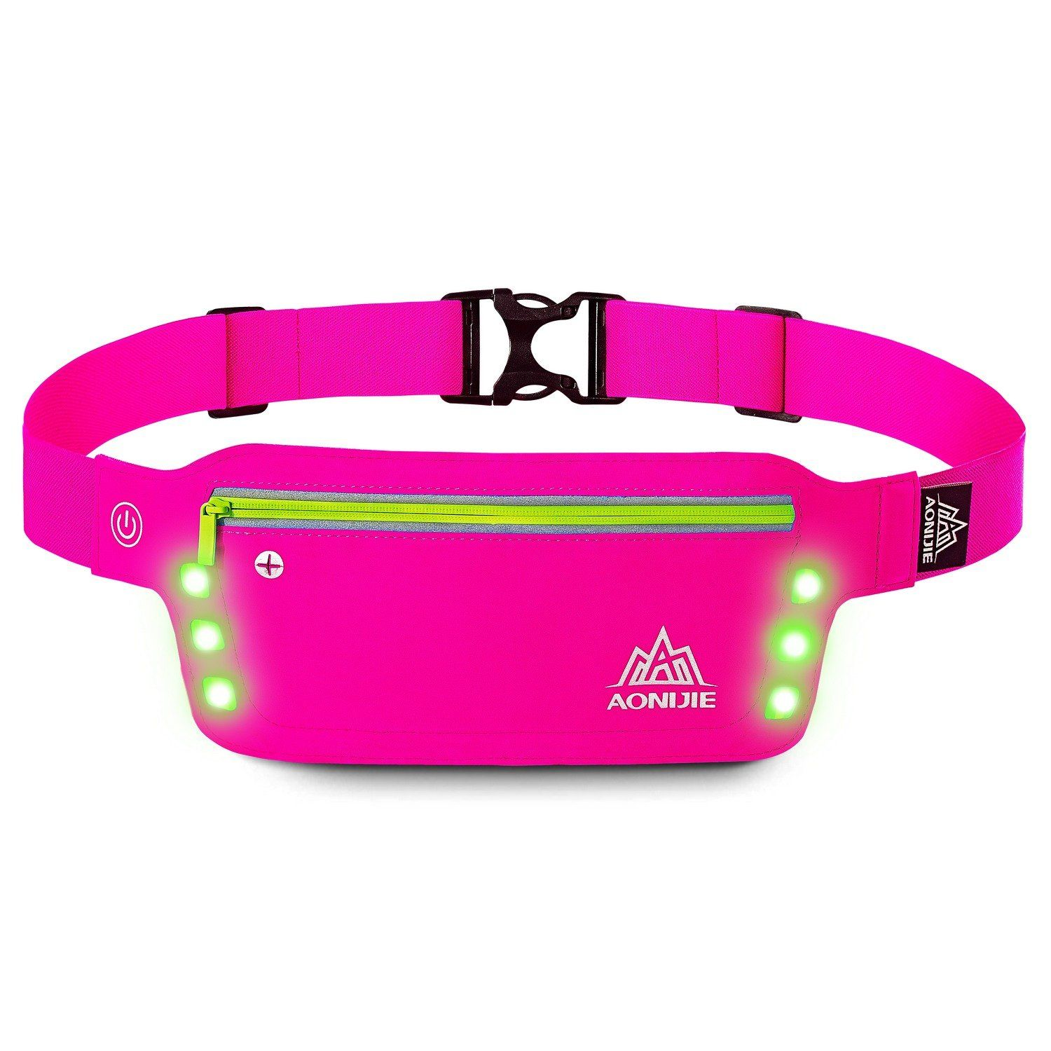 LERMX Waterproof Running & Fitness Belt With LED Safety