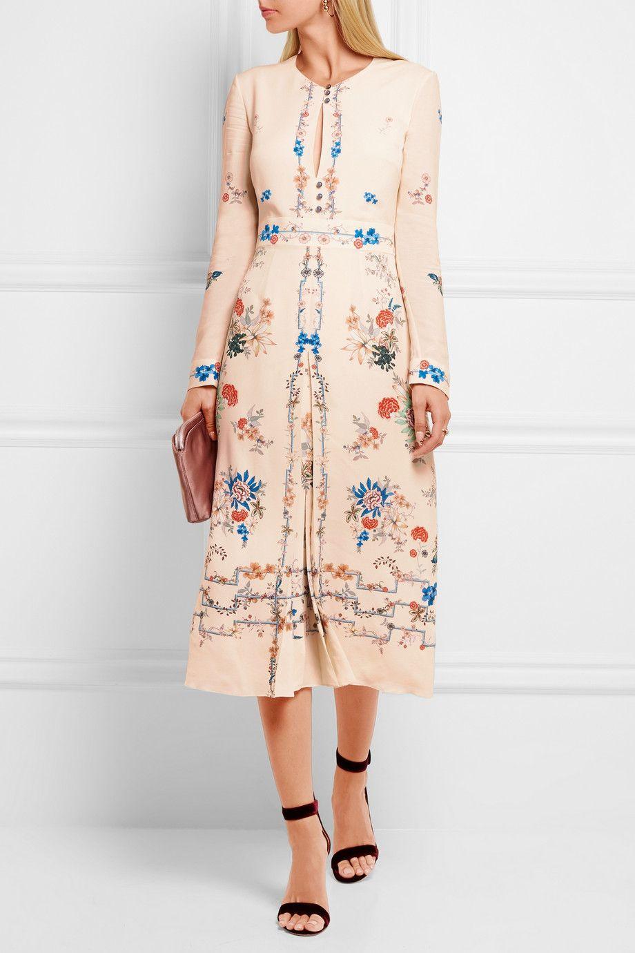 Vilshenko jerry floralprint silk crepe de chine dress neta