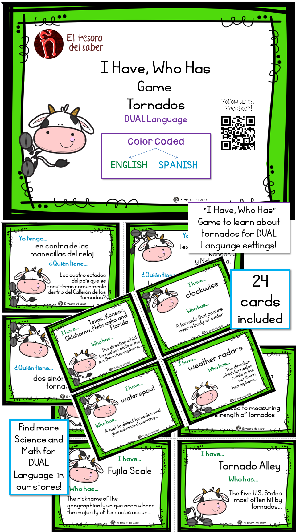 I Have, Who Has - A Game for vocabulary about Tornados for DUAL ...
