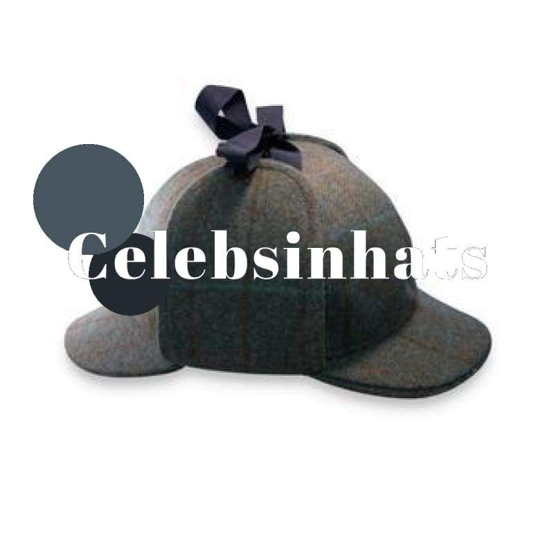 Tweed deerstalker green check choice of 4 sizes  Celebsinhats  Presents   Christmas 2720f06cf104