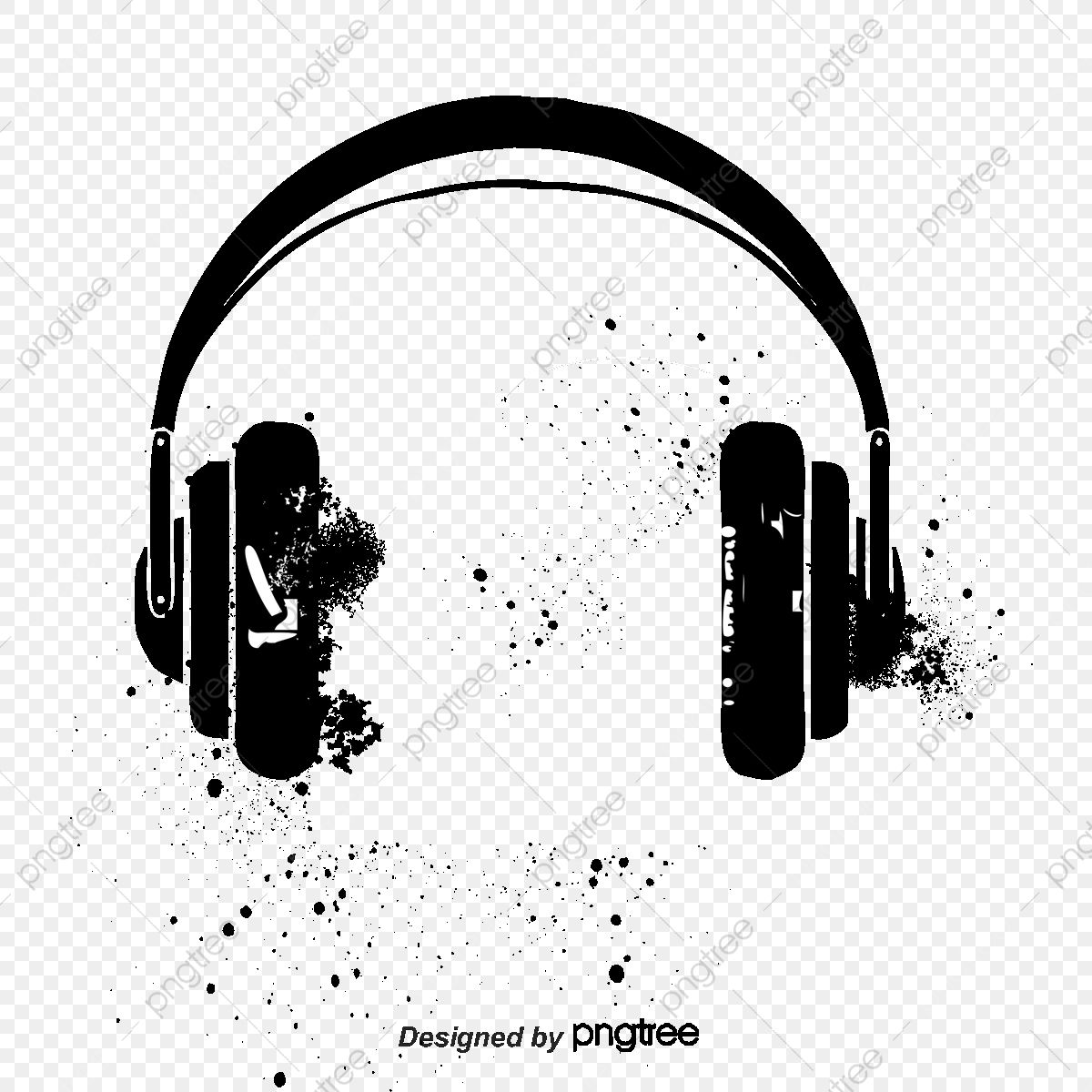 Vector Black Headphones Black Headphones Ink Ink Marks Png Transparent Clipart Image And Psd File For Free Download Black Headphones Black Friday Poster Music Tattoo Designs