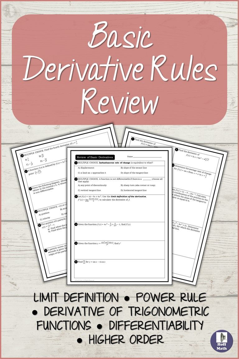 Know Some Of The Properties Of Derivatives And Boost Your Mathematics Skill Mathematics Derivatives Ca Mathematics Today Quotient Rule Derivatives Calculus