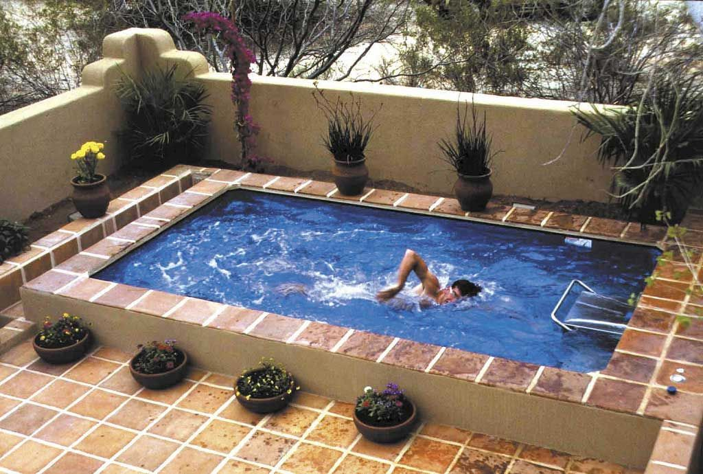 Small Rooftop Swimming Pool Design In House Small Backyard Pools
