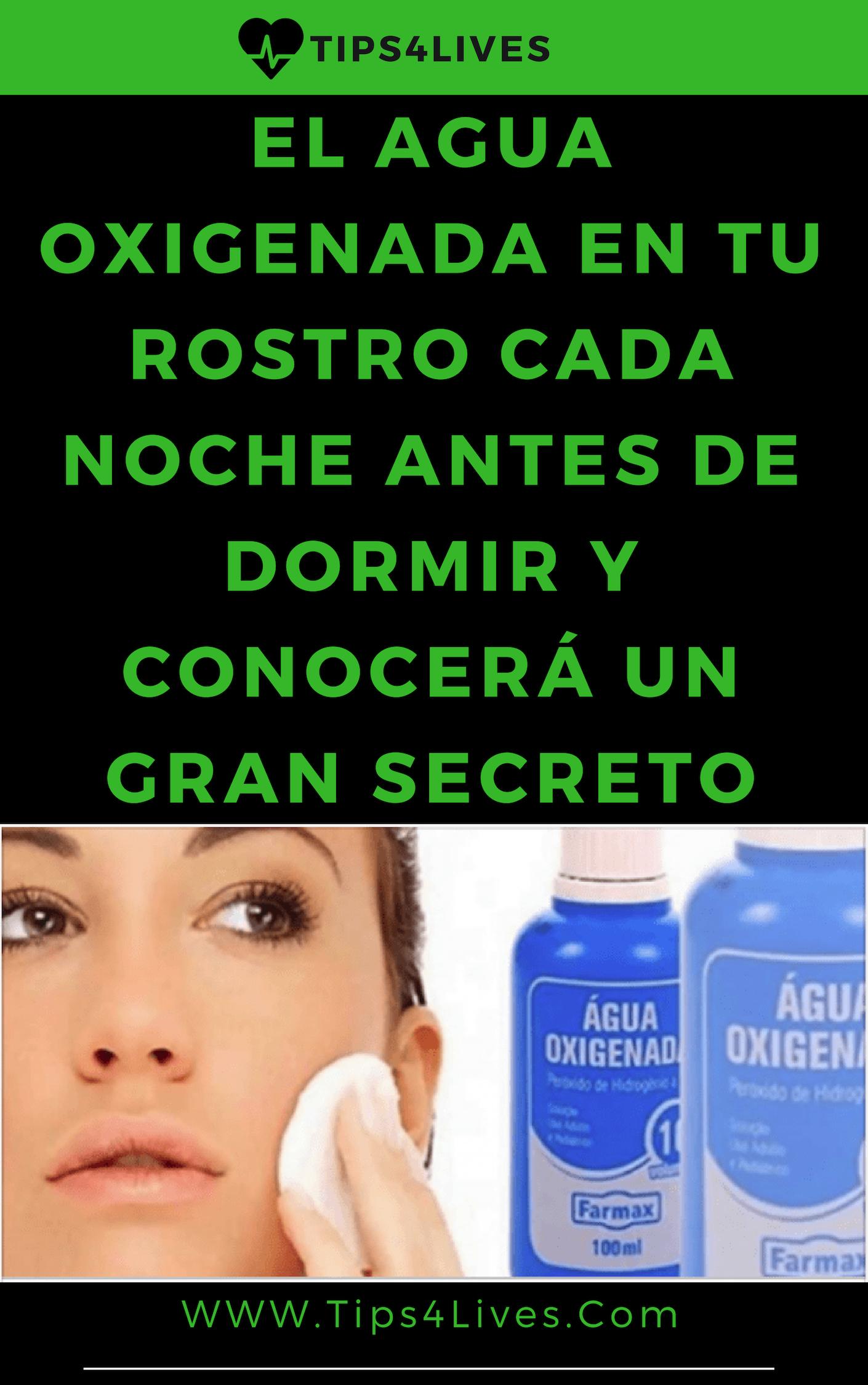 El Agua Oxigenada En Tu Rostro Cada Noche Antes De Dormir Y Conocerá Un Gran Secreto Health Health Care Home Remedies