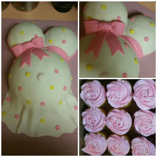 Sweet Baby girl baby belly cake and cupcakes!!! search girlie girl sweets on facebook