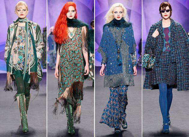 Anna Sui Fall/Winter 2014-2015 Collection – New York Fashion Week  #NYFW #MBFW #NewYorkFashionWeek #fashion