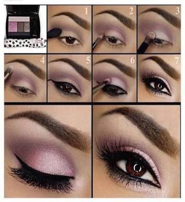 Maquillaje para boda de noche vestido rosa palo