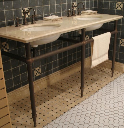 Tapered Foot Three Leg System For Double Sinks With Images