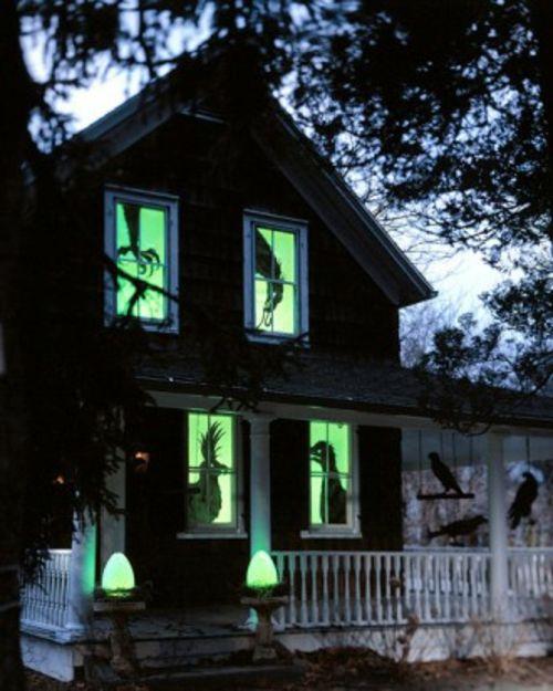 Halloween Aussendekoration 20 Gruselige Dekoideen Fur Ihr Fest Halloween Silhouetten Gruseliges Halloween Halloween