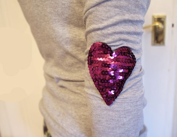 Vivid Please: DIY: How To Make Sequin Heart Patches