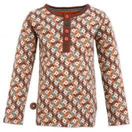 Alleen al voor de naam zou je dit shirt aan je zoon willen geven! 4FunkyFlavours shirt lange mouw, bruin 'Someone Great' - Kinderkleding Zazou