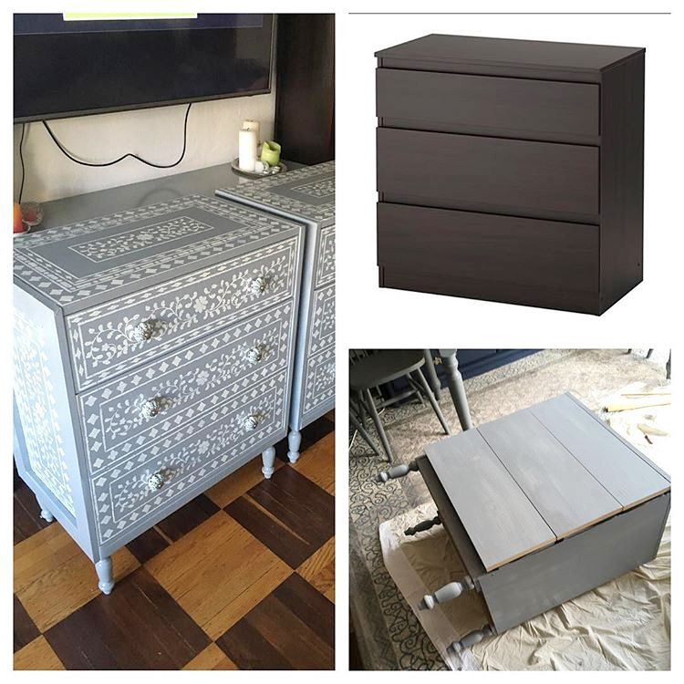 Cassettiera Ikea Malm Usata.Did You Stencil Anything This Weekend Jenn V Dressed Up A Plain