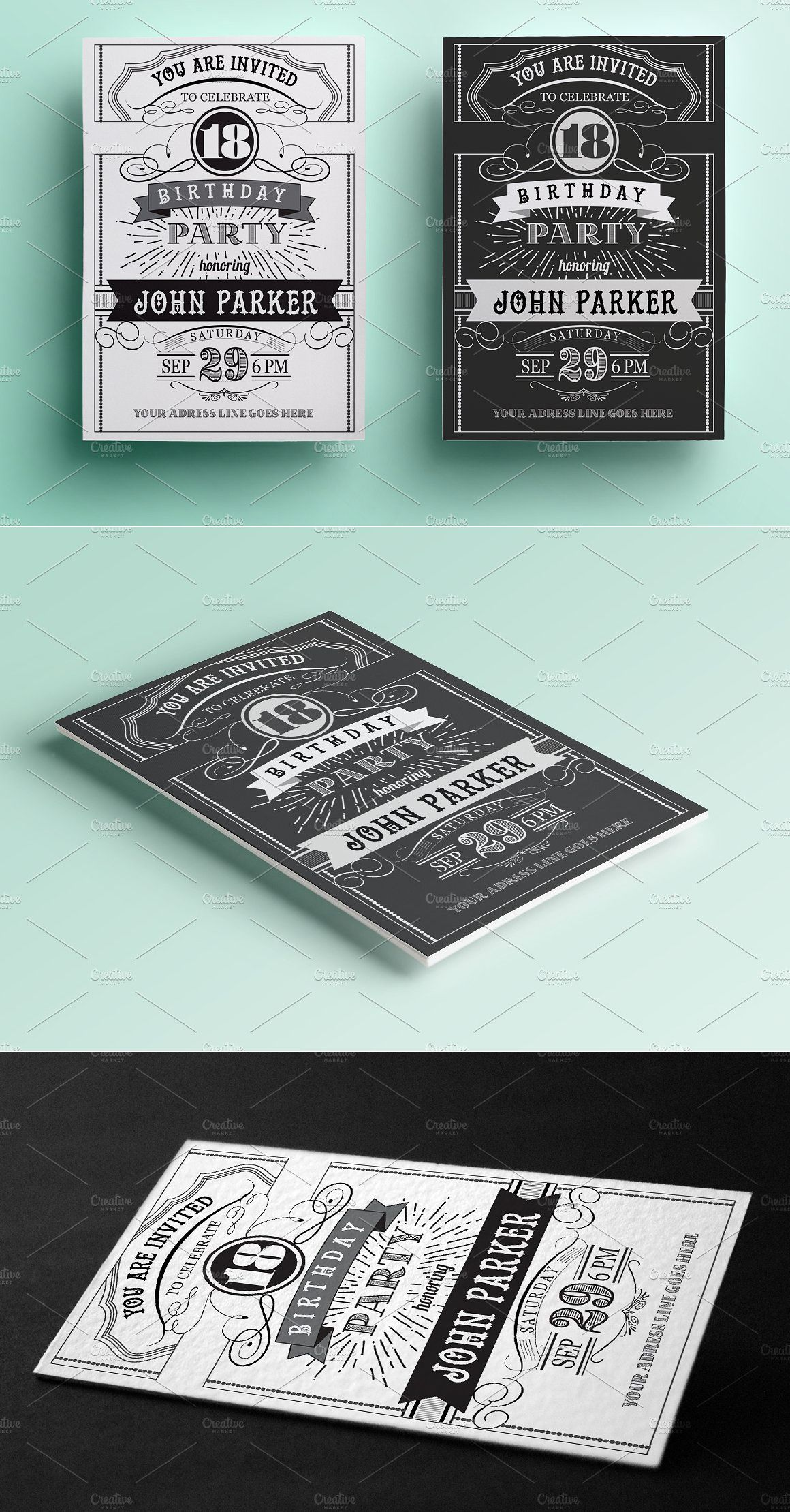 Vintage birthday invitation templates psd invitation templates vintage birthday invitation templates psd filmwisefo