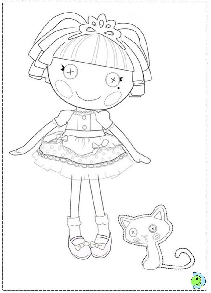 lalaloopsy doll colouring pages tattoo jobspapacom - Lalaloopsy Coloring Pages
