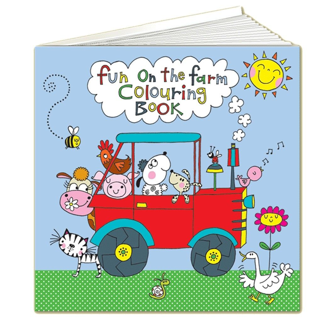 Kids Will Have Hours Of Fun With This Rachel Ellen Farm Colouring Book Keep Them Busy The Fab Designs Inside