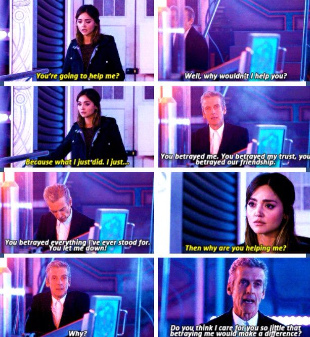 That Was The Moment The Moment We Realized Twelve Does In Fact Have Not One Doctor Doctor Who Quotes 12th Doctor