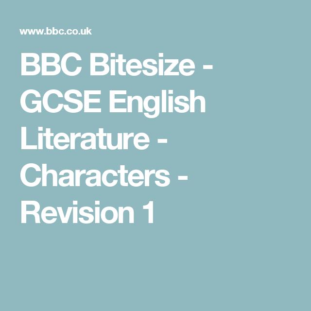 BBC Bitesize - GCSE English Literature - Characters - Revision 1   English literature, Gcse ...
