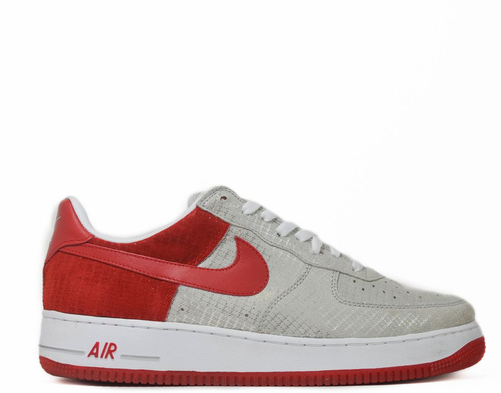 save off 5e320 c7b8f Nike Air Force 1 Premium Metallic Silver Red