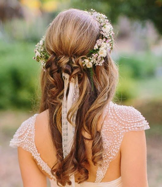 cute hair styles for homecoming half up half wedding hairstyles 50 stylish ideas 9104 | 7b05c9104ad08cac88f459a2dc18d24b