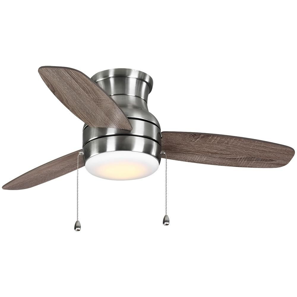 Home Decorators Collection Ashby Park 44 In White Color Changing Integrated Led Brushed Nickel Ceiling Fan With Light Kit 59244 The Home Depot Brushed Nickel Ceiling Fan Fan Light Ceiling Fan With Light