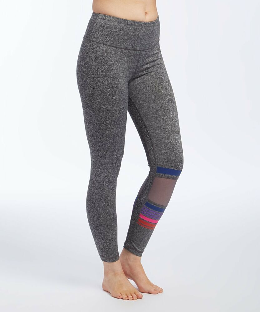 Grey Leggings Size 12 Ladies Womens Sports With Wide