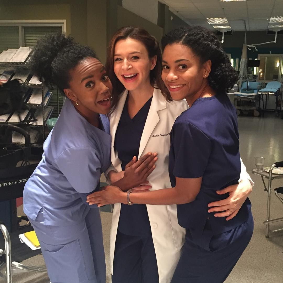 Grey\'s Anatomy Season 13 is full steam ahead! The cast and crew of ...