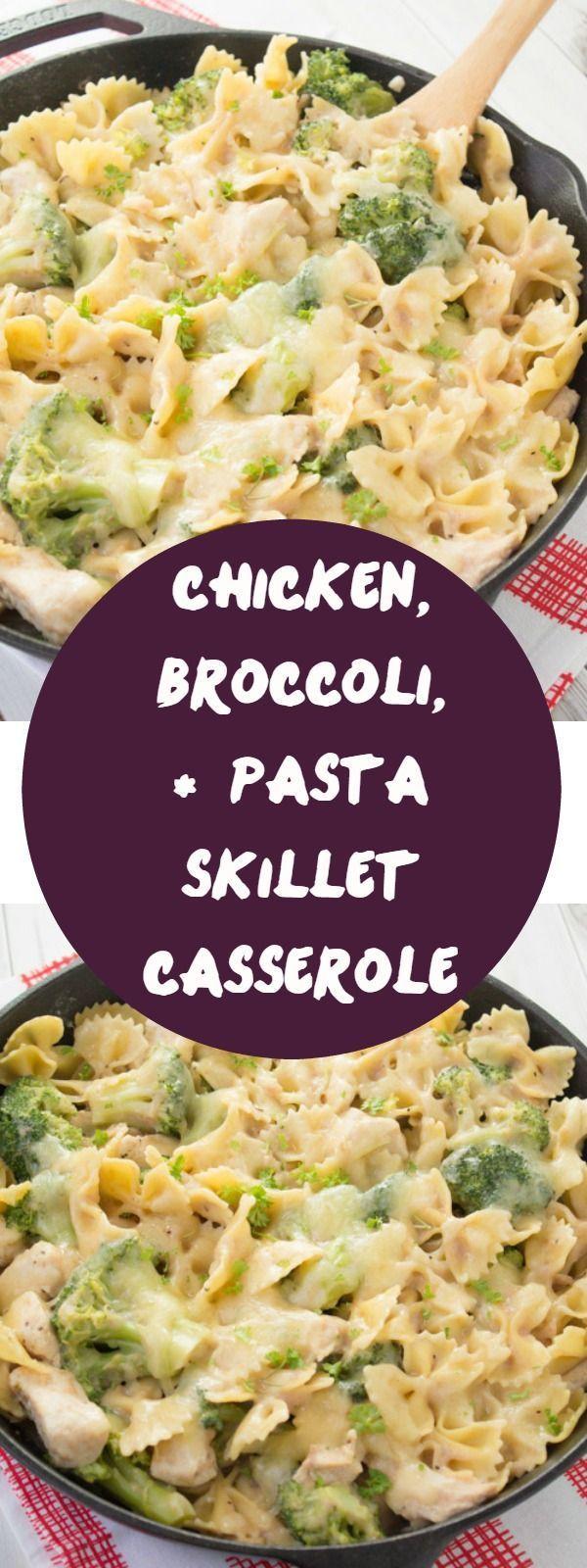 Chicken, Broccoli,  Pasta Skillet Casserole  Recipe -6537