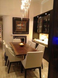 black walnut live edge table in a contemporary asian setting rh pinterest com