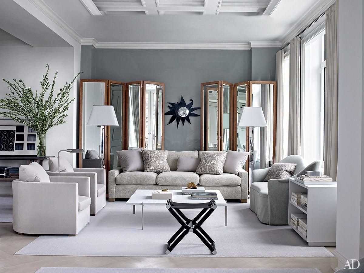 Inspiring Gray Living Room Ideas Architectural Digest Grey Walls Living Room Living Room Decor Gray Living Room Grey Grey paint living room