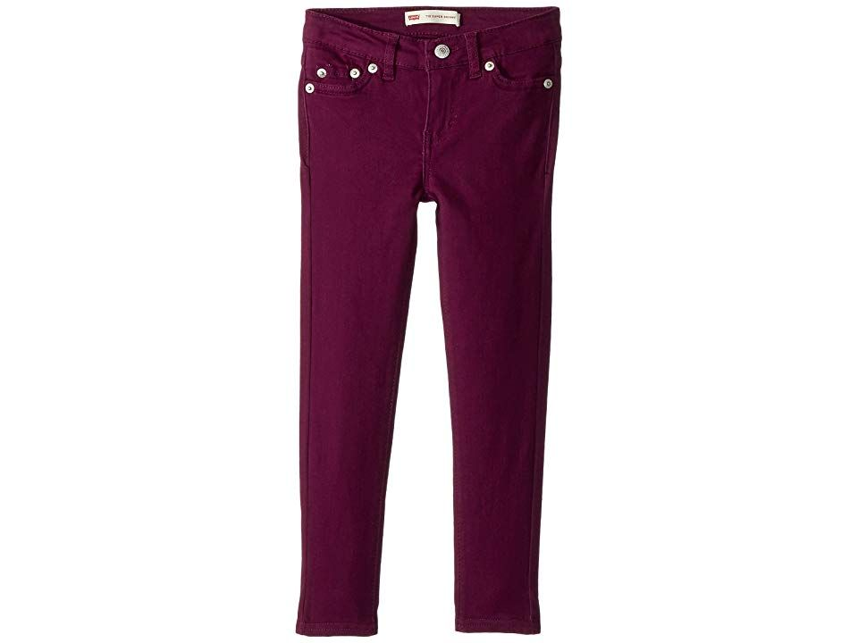 Levisr Kids 710 Brushed Twill Super Skinny Jeans Little Kids Pickled Beet Girls Jeans Take your look from every day to showstopper in the Levis 710 Legging 710 jean leggi...